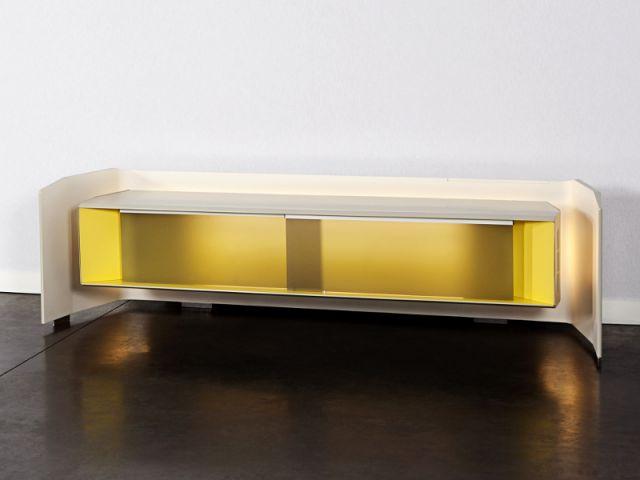 un meuble design qui cache une installation hifi - maisonapart - Meubles Hifi Design