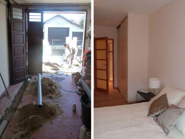 une chambre tout équipée en lieu et place d'un garage - Amenagement De Garage En Piece Habitable