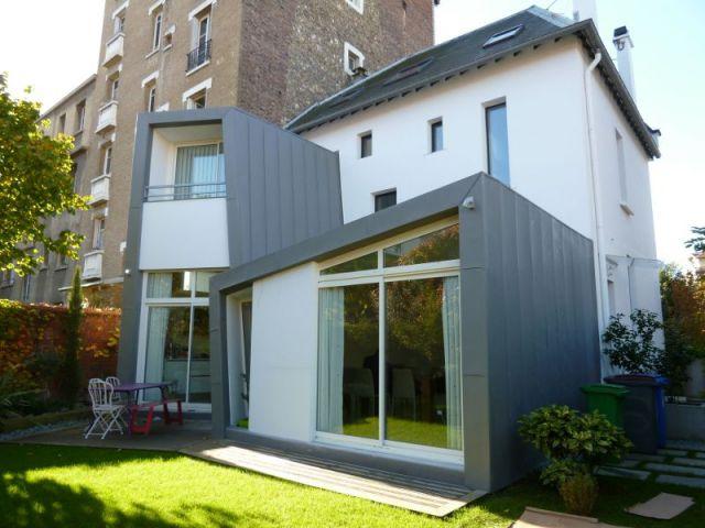 Une extension en l adoss e une maison des ann es 30 for Agrandissement fenetre