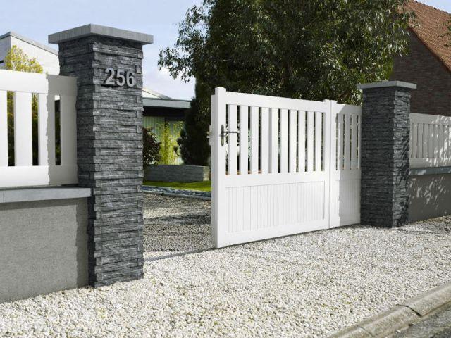 10 solutions pour embellir son portail et sa cl ture - Habillage colonne beton ...