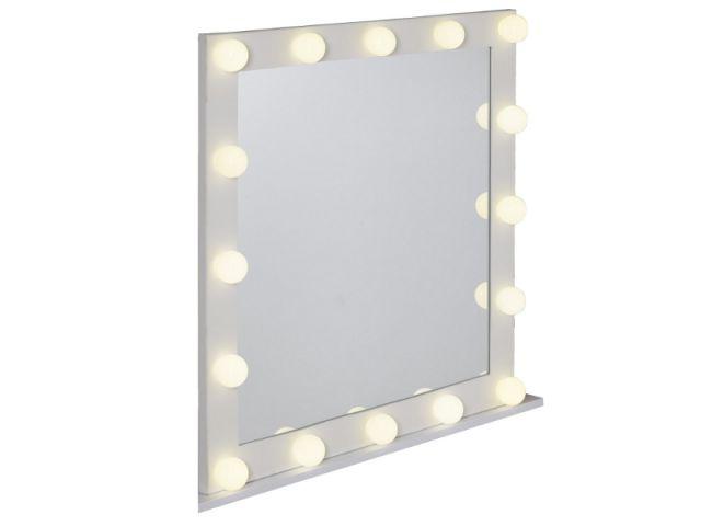 Un miroir lumineux comme dans les loges de stars maisonapart - Miroir salle de bain lumineux anti buee ...