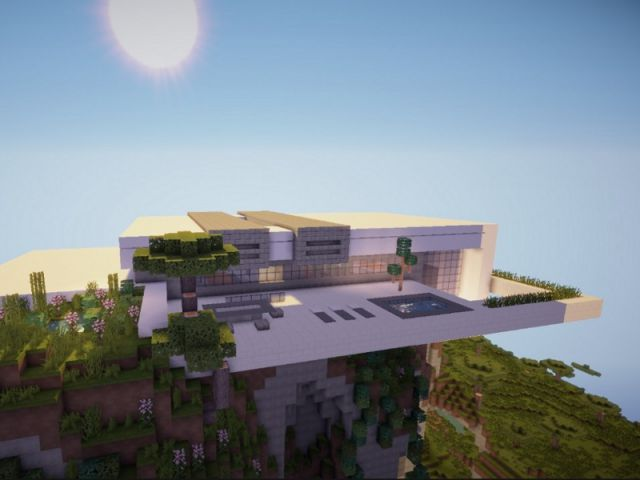 Awesome Maison Moderne De Luxe Avec Piscine Minecraft Images Amazing House Design