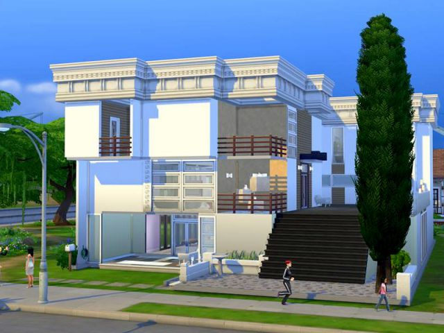 Les sims 4 une maison qui d fie les lois de la gravit maisonapart for Maison prefabriquee sims 4