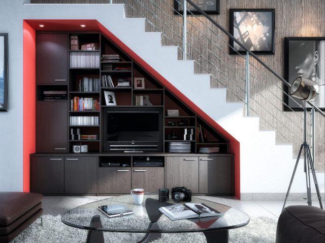 10 id es pour optimiser l 39 espace sous un escalier - Faire son salon en 3d ...