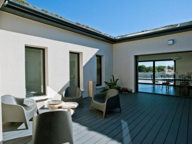 Au coeur du projet un patio maisonapart - Maison avec patio arbre d interieur ...