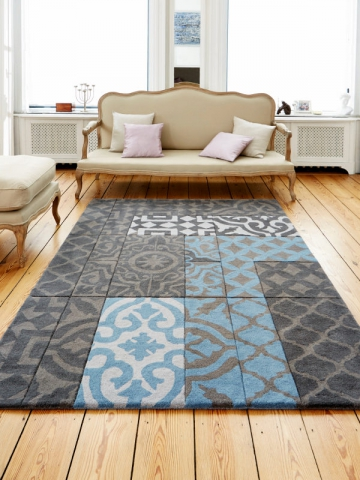 good des carreaux de ciment en motif sur un tapis with ciment factory tapis. Black Bedroom Furniture Sets. Home Design Ideas