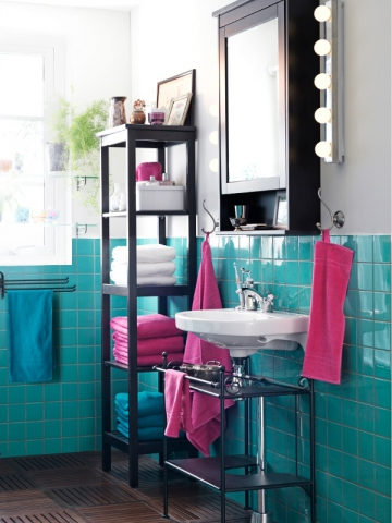 accessoires salle de bain bleu canard. Black Bedroom Furniture Sets. Home Design Ideas
