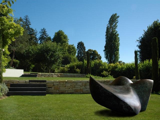 Avant apr s 4 terrasses pour structurer un jardin en pente - Jardin contemporain pente marseille ...