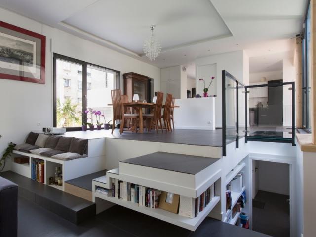 1 rez de chauss e ouvert sur 2 niveaux. Black Bedroom Furniture Sets. Home Design Ideas