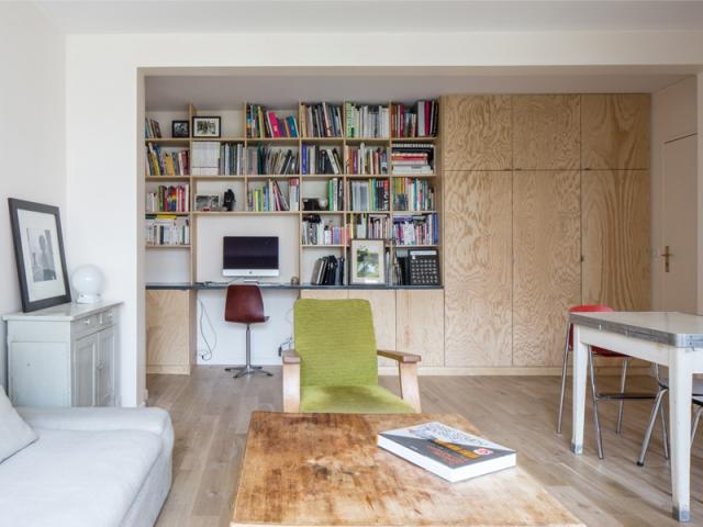 avant apr s quand la r cup 39 de mat riaux donne une me un appartement. Black Bedroom Furniture Sets. Home Design Ideas