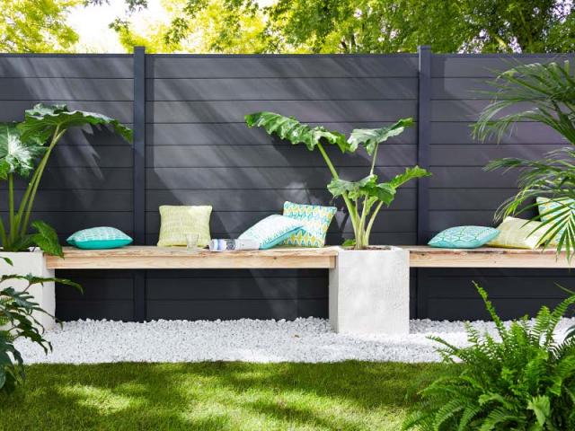 une clot re esth tique pour d limiter mon jardin. Black Bedroom Furniture Sets. Home Design Ideas