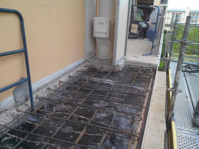 Balcon armatures corrosion