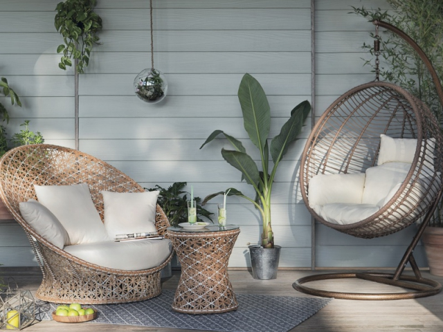 jardin terrasse la folie des fauteuils cocons. Black Bedroom Furniture Sets. Home Design Ideas