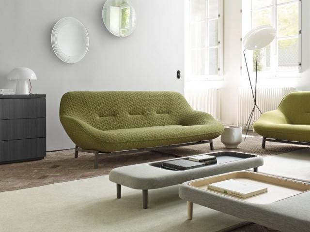 Un canapé léger et rond pour son salon