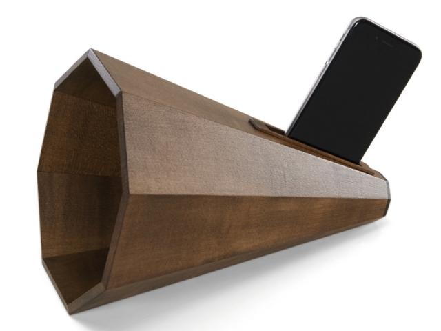 Resound, amplificateur pour smartphone en érable teinté, 99 €
