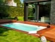 Fiche technique  - Mini-piscine et terrasse mobile pour un jardin en ville