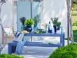 Un banc lavande d'inspiration provençale