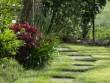 Des petits pas japonais qui serpentent dans le jardin