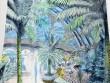 Un papier peint jungle pour une salle de bains bohème chic
