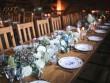 Une déco de table champêtre en bleu et blanc