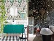 Le papier peint investit la salle de bains
