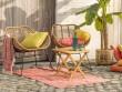 Un tapis d'extérieur frais et coloré