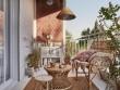 Un balcon cosy à l'esprit bohème