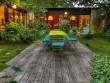Un jardin intérieur aux allures de cocon