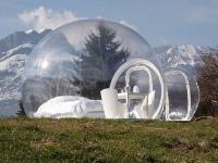 Une maison bulle modulaire et transparente