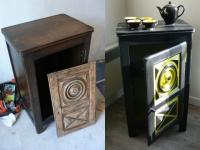 avant apr s customisation d 39 un meuble en ch ne. Black Bedroom Furniture Sets. Home Design Ideas