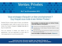 Ventes privées chez Guy Hoquet l'Immobilier