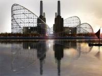 Un roller coaster géant pour réaménager une usine