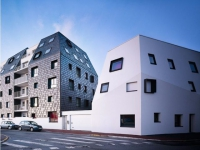 Icebergs noir et blanc pour des logements sociaux