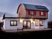Une maison bois façon roulotte