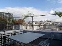 Appartement sous les toits avec vue à 360° sur Paris