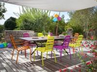 Mobilier de jardin : osez la couleur !