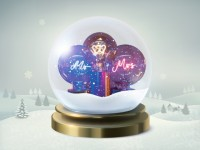5 décembre : une ampoule à message personnalisé