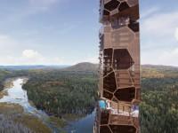 Insolite : une tour futuriste au beau milieu de la forêt