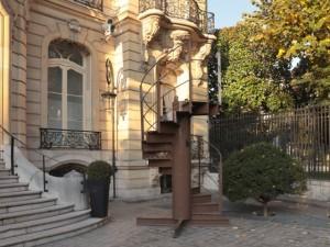 Un tronçon de l'escalier d'origine de la Tour