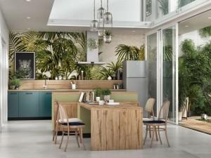 Le vert, la nouvelle couleur star dans la cuisine