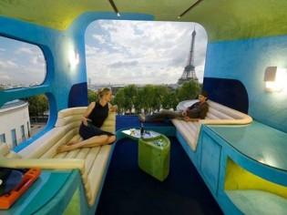 Une chambre d'hôtel mobile