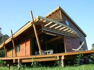 Une maison bois sous les tropiques