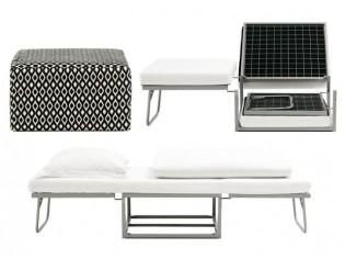 Un mobilier qui se plie en quatre