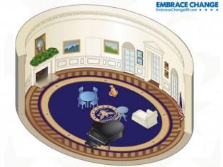Meublez le Bureau Ovale de Barack Obama !