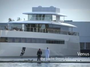 """""""Venus"""", le yacht de Steve jobs, signé Philippe Starck"""
