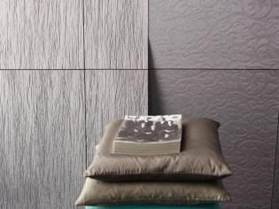 Un revêtement mural qui imite les détails du tissu