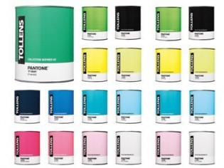 Une boutique éphémère aux couleurs de Pantone et Tollens