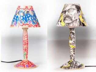 Détournement solidaire d'une lampe culte de Philippe Starck
