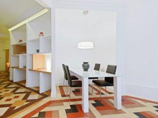 Modernisation d'un appartement atypique des années 40