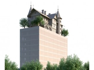 Hôtel by Starck à Metz : Une maison bourgeoise du XIXe siècle posée sur une tour de verre
